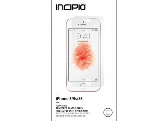 Incipio Plex Displayschutzfolie + Applikator - gehärtetes Glas für Apple iPhone SE