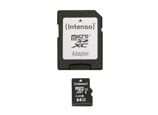 Speicherkarten, Speichermedien - Intenso Micro SD Class 10 UHS I, 64 GB fuer Acer Iconia One 10 (B3 A20B), Iconia Tab W501P, Predator 8 (GT 810), Alcatel onetouch IDOL 3 (47) 6039, IDOL 3 (55) 6045, IDOL 3 6039Y, IDOL 3 6045Y, IDOL 4 Pro 6077X, IDOL 5 (6058D), IDOL 5S (6060X), POP 4S, POP 8P321, Plus 10, Shine li...  - Onlineshop Telefon.de