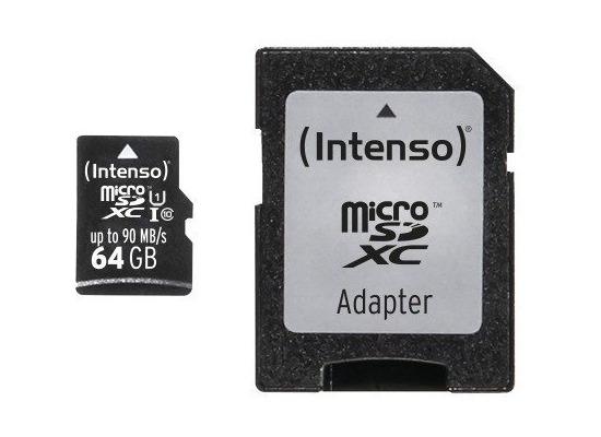 Speicherkarten, Speichermedien - Intenso Micro SD UHS I Professional, 64 GB fuer Acer Iconia One 10 (B3 A20B), Iconia Tab W501P, Predator 8 (GT 810), Alcatel onetouch IDOL 3 (47) 6039, IDOL 3 (55) 6045, IDOL 3 6039Y, IDOL 3 6045Y, IDOL 4 Pro 6077X, IDOL 5 (6058D), IDOL 5S (6060X), POP 4S, POP 8P321, Plus 10, Shine li...  - Onlineshop Telefon.de