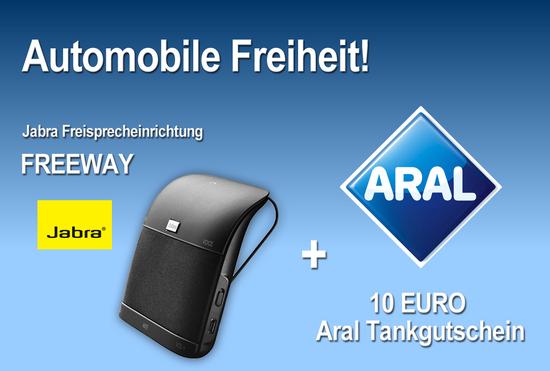 Jabra Aktion FREEWAY + Aral 10 EURO Tankgutschein