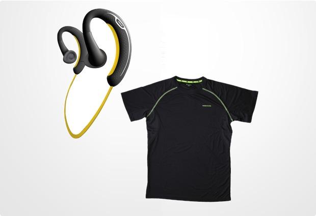 Jabra Aktion SPORT Bluetooth Stereo Headset + endomondo Funktions-Laufshirt Man (Größe M)