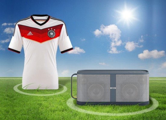 Jabra WM-Aktion Solemate Max + ADIDAS DFB Trikot Home 2014 weiß Größe L