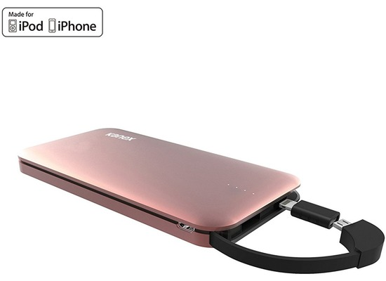 Kanex GoPower Power Bank - Micro-USB & Lightning - 8000mAh - rose gold