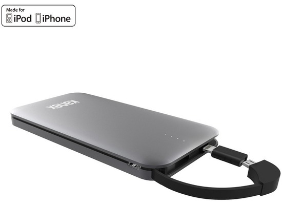 Kanex GoPower Power Bank - Micro-USB & Lightning - 8000mAh - space grau