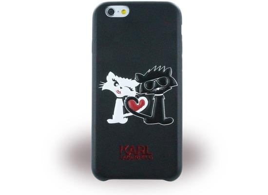 Karl Lagerfeld Choupette in Love, TPU Cover für Apple iPhone 6/6S, schwarz