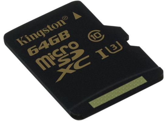 Speicherkarten, Speichermedien - Kingston microSD Card Gold Class 10 UHS 1 U3 o. Adapter 64GB fuer Acer Iconia One 10 (B3 A20B), Iconia Tab W501P, Predator 8 (GT 810), Alcatel onetouch IDOL 3 (47) 6039, IDOL 3 (55) 6045, IDOL 3 6039Y, IDOL 3 6045Y, IDOL 4 Pro 6077X, IDOL 5 (6058D), IDOL 5S (6060X), POP 4S, POP 8P321, Plus 10, Shine li...  - Onlineshop Telefon.de