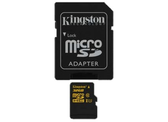 Kingston microSDHC Class 10 UHS-I, 32GB mit Adapter