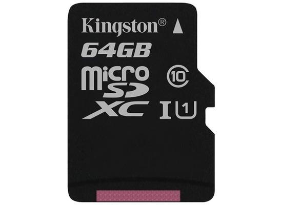 Kingston microSDXC Class10 UHS-I Single ohne Adapter, 64GB