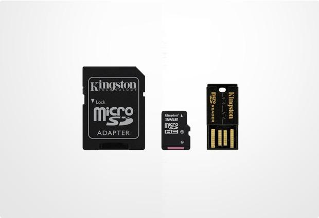 Kingston Mobility Kit microSDHC 32GB Class 10 (inkl USB + SD Adapter)