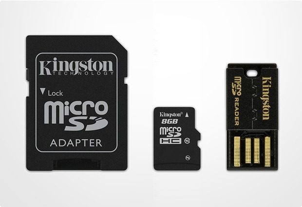 Kingston Mobility Kit microSDHC 8GB Class 10 (inkl USB + SD Adapter)