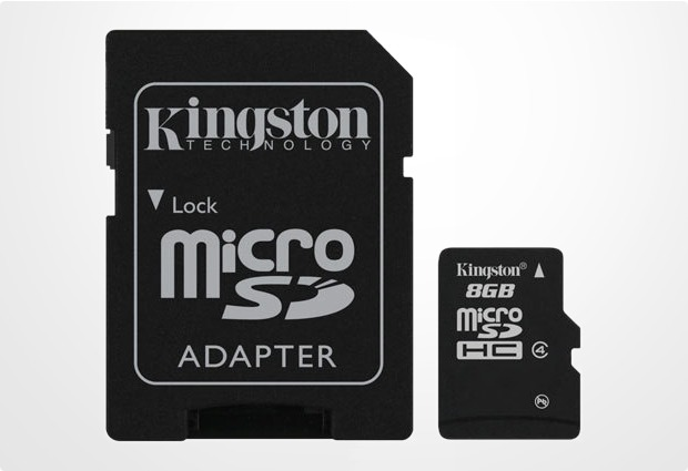 Kingston microSDHC Speicherkarte, Class4, 8GB