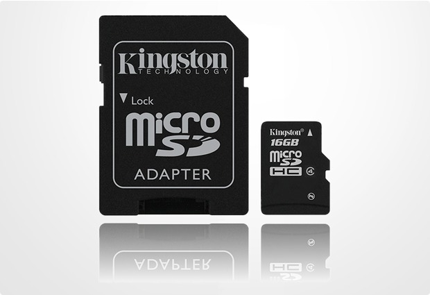 Kingston microSDHC Speicherkarte, Class4, 16GB