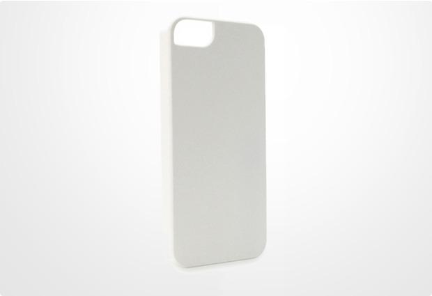 Konkis BackCover Matt Rubber für iPhone 5/5S/SE, weiß