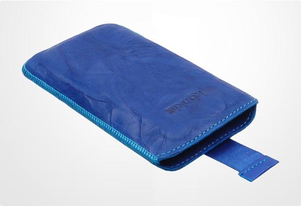 Konkis Echtleder-Etui f�r Samsung Galaxy S3, washed blau