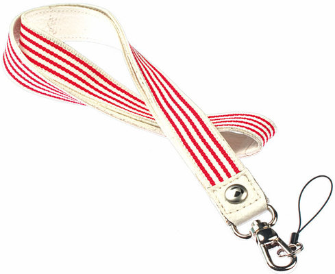 Krusell Breeze Neckstrap Eggshell/Off White/Red