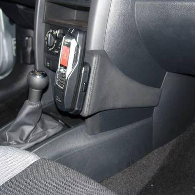 Kuda Lederkonsole für Peugeot 207 & 207 CC ab 05/06 Mobilia / Kunstleder schwarz