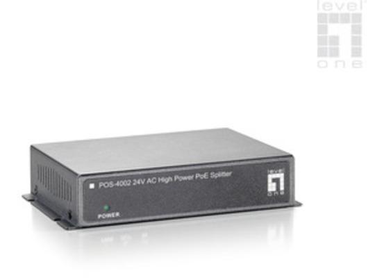 LevelOne 24V AC High Power PoE Splitter - (POS-4002)