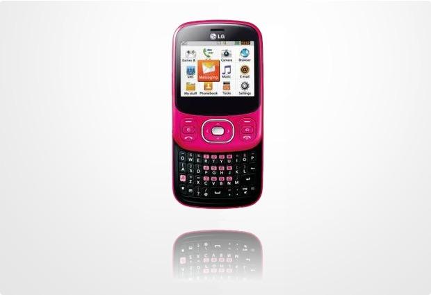 LG C320, hot pink