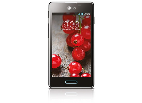LG Optimus L5 II, black metal brushed