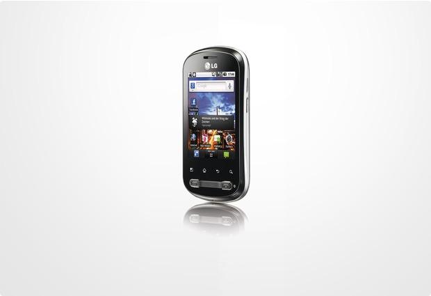 LG P350 Optimus Me, schwarz-silber