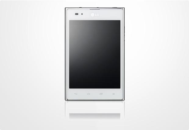 LG Optimus Vu, weiß