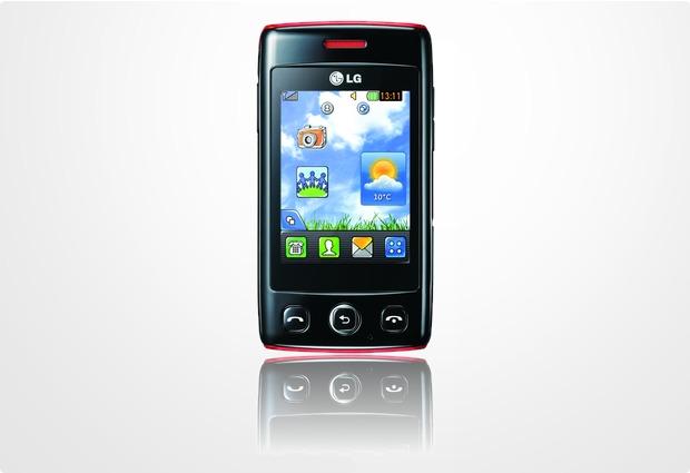 LG T300 Cookie Lite, schwarz-rot