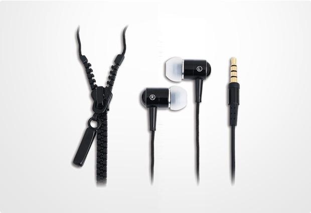 LogiLink In-Ear Stereo Headset Zipper, schwarz