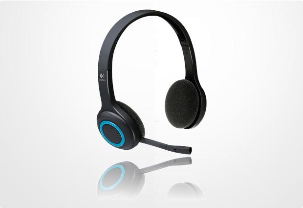 Logitech® Wireless Headset H600, blau-schwarz