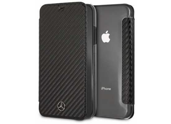 Mercedes-Benz Mercedes Benz, Dynamic, Carbon Book Cover, Apple iPhone XS Max, Schwarz