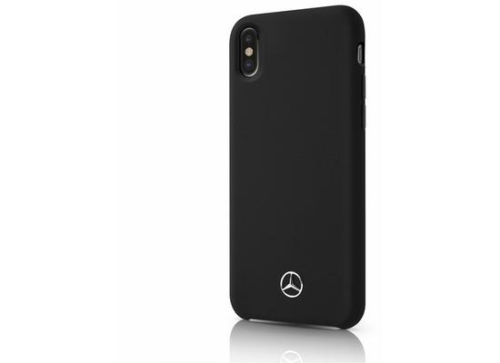 Mercedes-Benz Mercedes Benz, Silicon/Fiber, Hard Case, Apple iPhone XS Max, Schwarz
