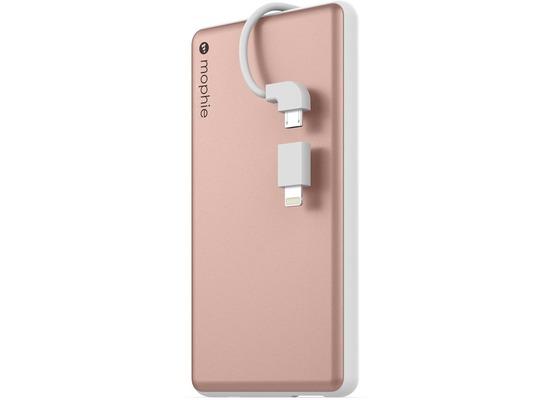 Mophie Powerstation Plus, rose gold - Externe Schnellade-Batterie mit Lightning und Micro-USB ( 6000 mAh)