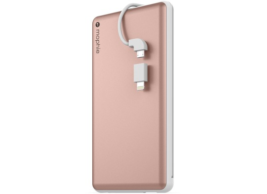 Mophie Powerstation Plus XL, rose gold - Externe Schnellade-Batterie mit Lightning und Micro-USB (12.000 mAh)
