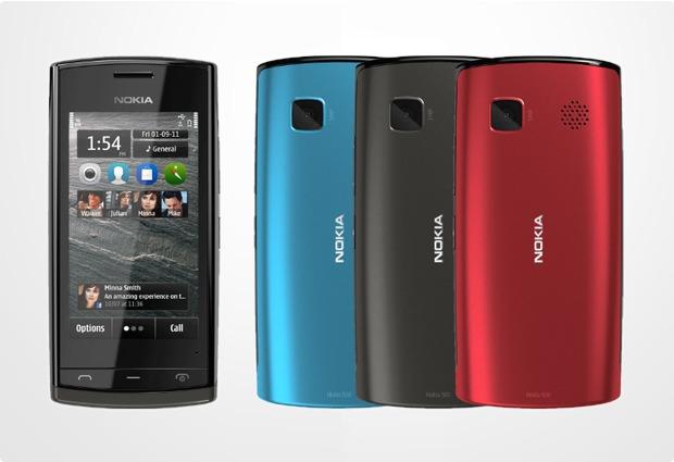 Nokia 500, schwarz