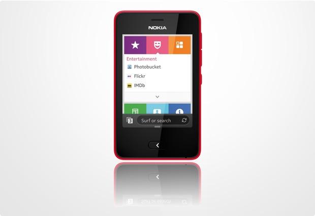 Nokia Asha 501 Dual-SIM, red