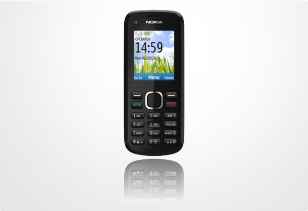Nokia C1-02, schwarz