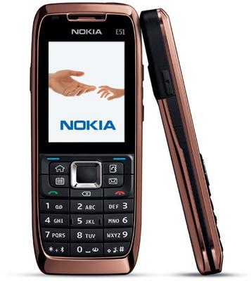 Nokia E51, rose