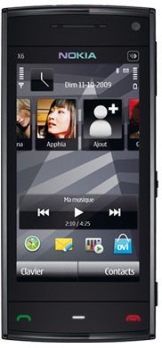 Nokia X6 16GB, black-black