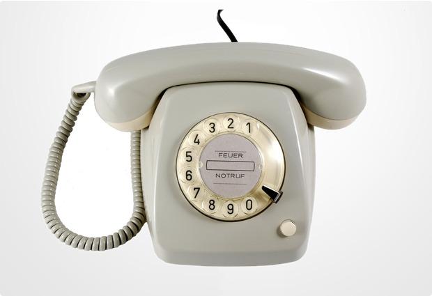 HDK Nostalgietelefon FeTAp 611, grau