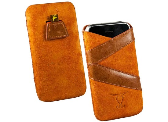 Fontastic OZBO Ledertasche Valera L - orange - 127x67x11mm