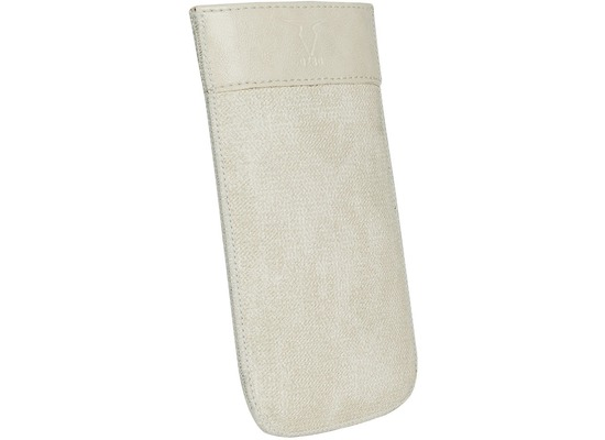 Fontastic OZBO PU Tasche Tesso XL - creme - 137x71x10mm