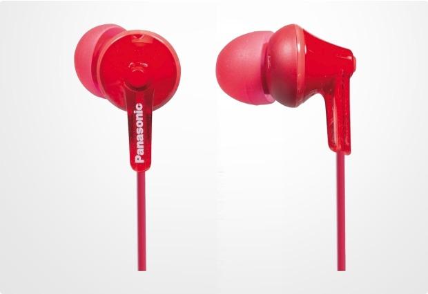 Panasonic In-Ear Stereo Kopfhörer RP-HJE125, rot