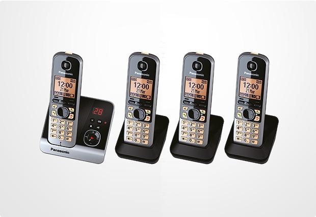 Panasonic KX-TG6724GB, schwarz