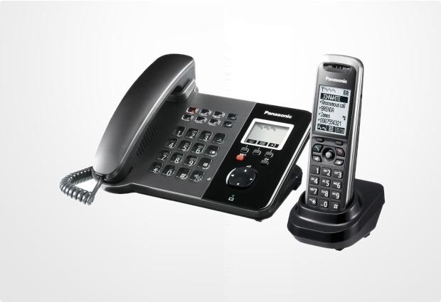 panasonic kx tgp550t01 sip dect telefon mit mobilteil bei. Black Bedroom Furniture Sets. Home Design Ideas