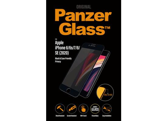 "PanzerGlass Apple iPhone 6/7/8/4.7\"" 2020 Case Friendly Privacy, Black"