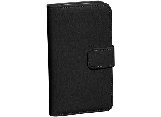 Pedea Echtleder Book Cover für Galaxy S8, schwarz
