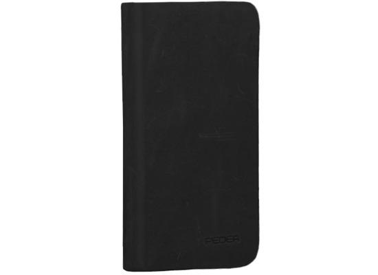 Pedea Echtleder Book Cover für iPhone 7 / iPhone 8, schwarz