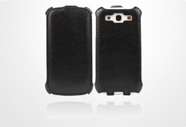 Twins Snake Flip für Samsung Galaxy S3, schwarz