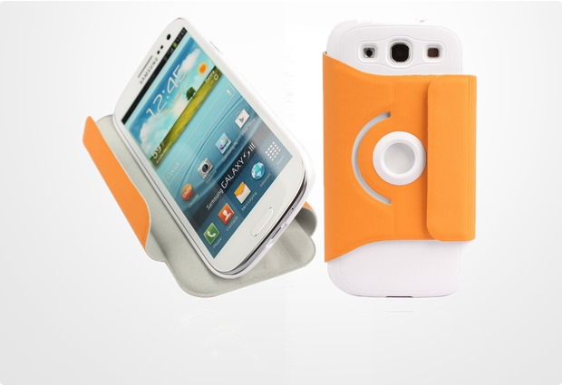 Twins Folio Stand 360 für Samsung Galaxy S3, orange