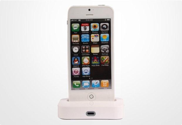 Twins Charging Dock für iPhone 5, weiß