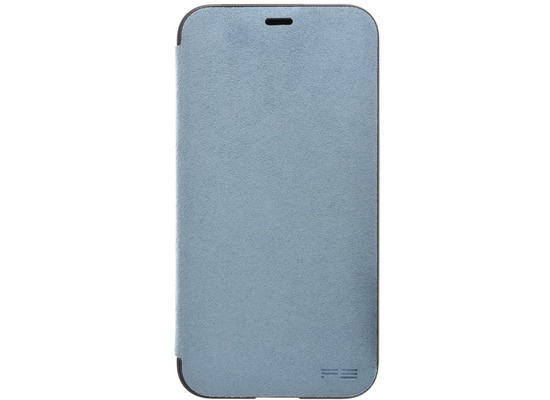 Power Support Ultrasuede Flip Case  Apple iPhone X  himmelblau